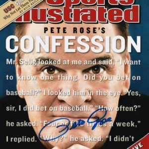 Pete Rose Autographed 8×10 Photo Confession Sports Illustrated Cover