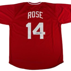 Pete Rose Autographed Red Jersey JSA Authenticated