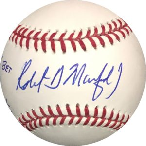 Pete Rose & Robert Manfred Sorry I Bet On Baseball Dual Signed Baseball