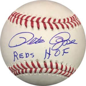Pete Rose Autographed Baseball Reds HOF OMLB w/ Pete Rose Authentication