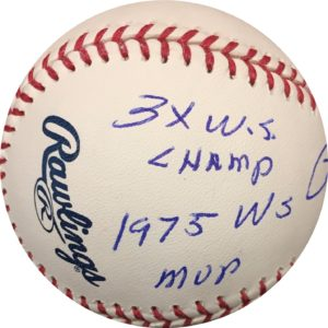 Pete Rose Autographed Baseball MLB STATS OMLB Pete Rose Authentication